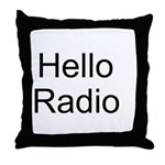Hello Radio Throw Pillow
