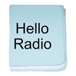 Hello Radio baby blanket