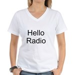 Hello Radio Women's V-Neck T-Shirt