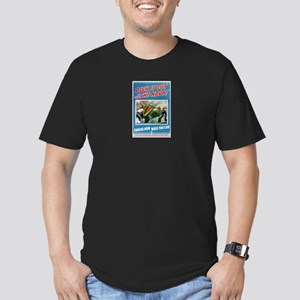 Dish It Out! Men's Fitted T-Shirt (dark)
