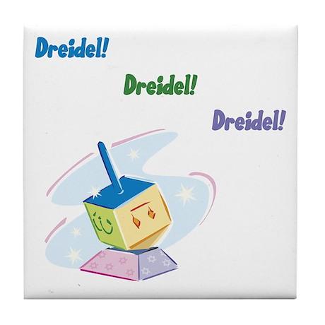 Dreidel - Tile Coaster