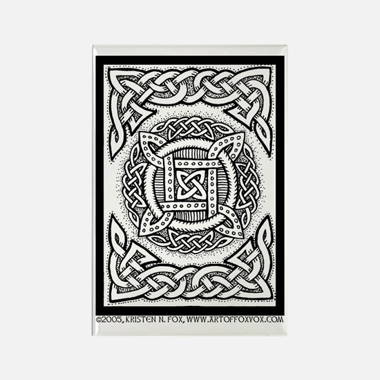 Celtic Four Square Circle Rectangle Magnet