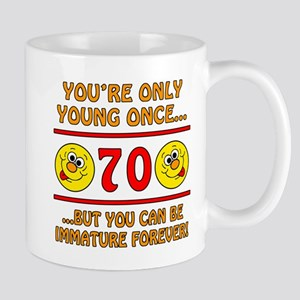 Immature 70th Birthday Mug
