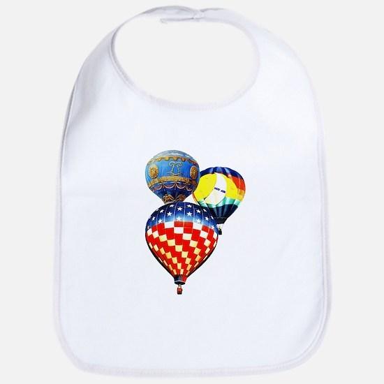 3 Hot Air Balloons Bib