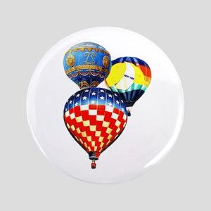 """3 Hot Air Balloons 3.5"""" Button"""