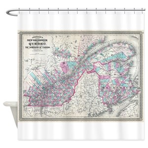 Canada Map Shower Curtains