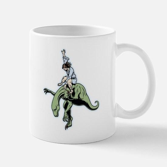Raptor Rodeo Jesus Mug