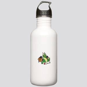 Green Bookdragon Stainless Water Bottle 1.0L