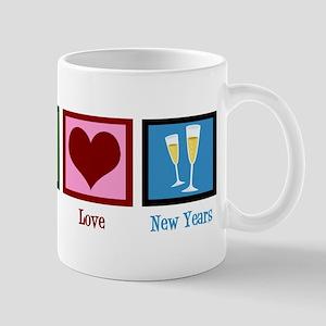 Peace Love New Years Mug