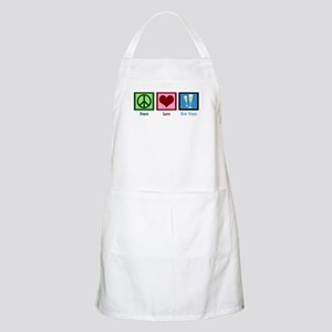 Peace Love New Years Apron