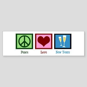 Peace Love New Years Sticker (Bumper)
