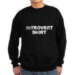 Introvert Shirt - B/W Sweatshirt (dark)