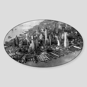 Manhattan 1942 Sticker (Oval)