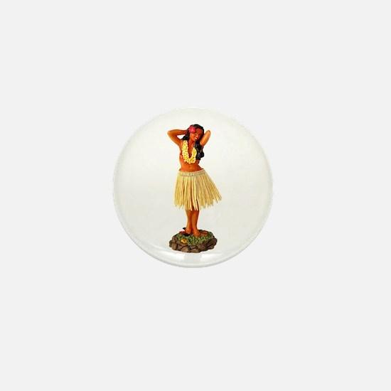 Hula Girl Mini Button