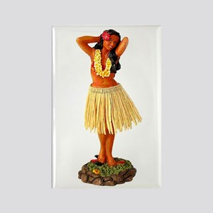 Hula Girl Rectangle Magnet