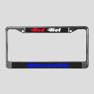 Red Hot bluesmobile License plate frame