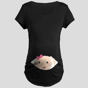 Peek-A-Boo Maternity T-Shirt