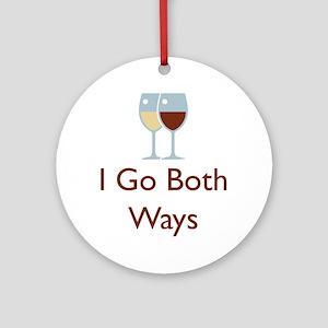 I Go Both Ways Ornament (Round)