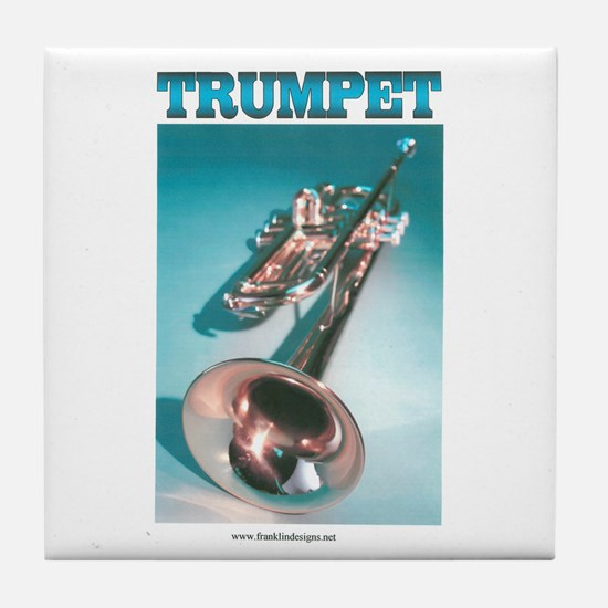 Trumpet Home Decor Tile Coaster