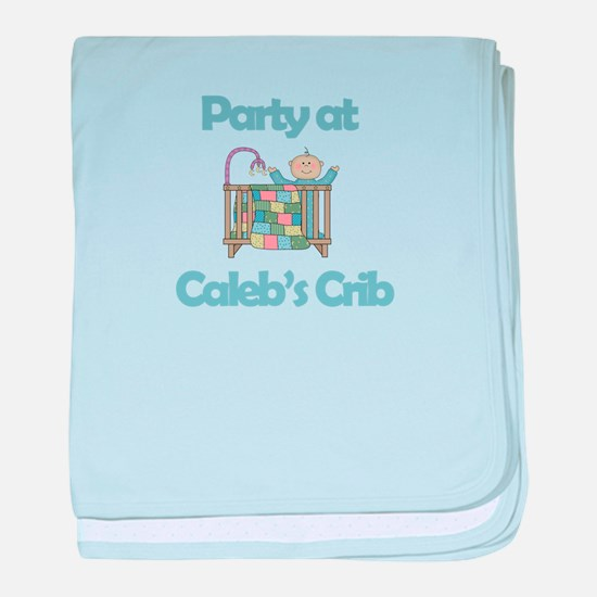 Party at Caleb's Crib baby blanket