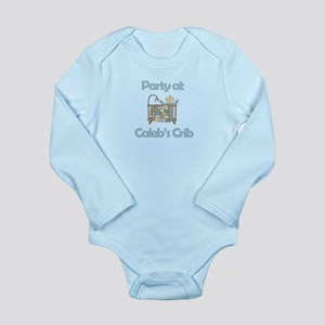 Party at Caleb's Crib Long Sleeve Infant Bodysuit
