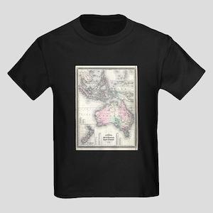 Vintage Australia & Southeastern Asia Map T-Shirt
