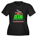 BEAN! The D2 RPG Women's Plus Size V-Neck Dark T-S