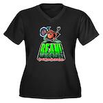 BEAN! The D2 RPG Women's Plus Size V-Neck Dark T-S