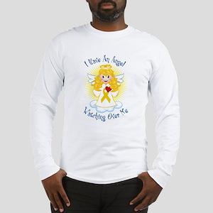 Angel Watching Me Gold Ribbon Long Sleeve T-Shirt
