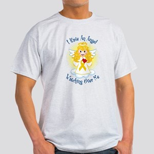 Angel Watching Me Gold Ribbon Light T-Shirt