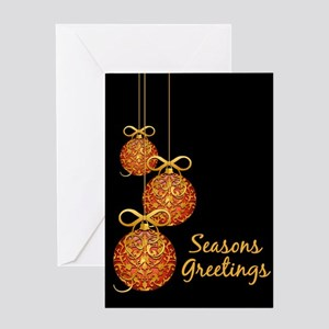 Gold Leaf Ornament Greeting Card