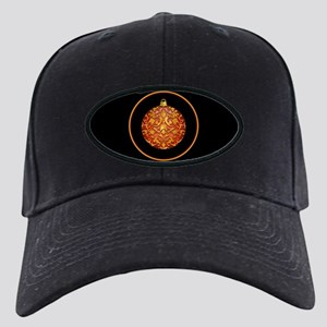 Gold Leaf Ornament Black Cap