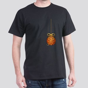 Gold Leaf Ornament Dark T-Shirt