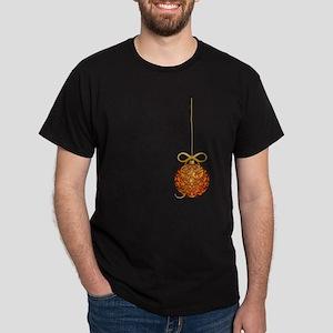 Gold Leaf Ornament Dark T-Shirt