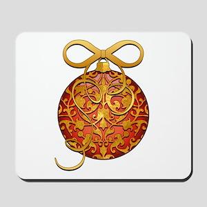 Gold Leaf Ornament Mousepad