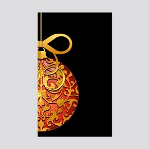 Gold Leaf Ornament Sticker (Rectangle)