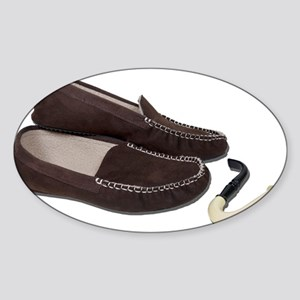 Pipe Slippers Sticker (Oval)