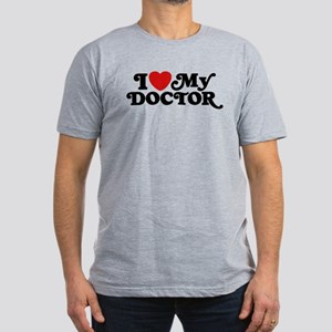 I Love My Doctor Men's Fitted T-Shirt (dark)