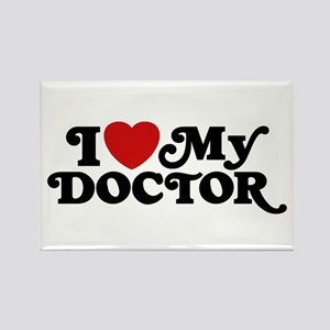 I Love My Doctor Rectangle Magnet