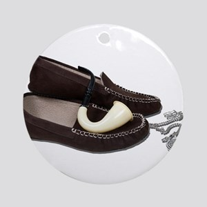 Slippers Watch Pipe Ornament (Round)