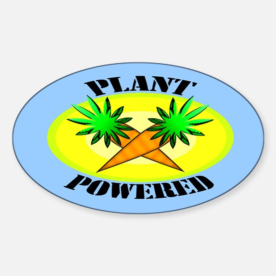 Plant Powered Oval Decal