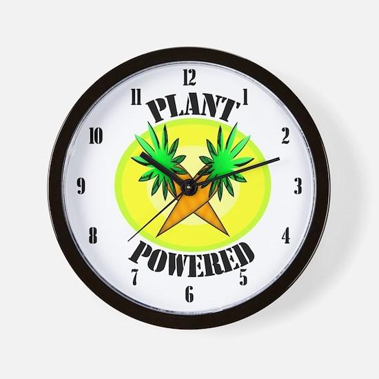 Plant Powered Wall Clock