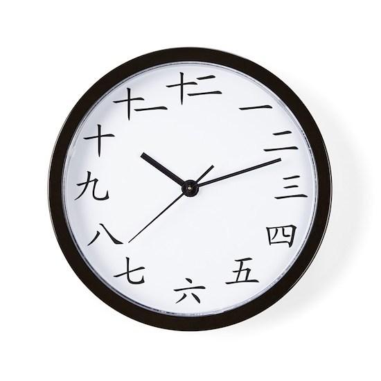 2-Chinese Modern Clock White