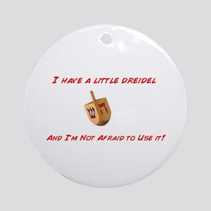 Dreidel Chrismukkah Ornament (Round)