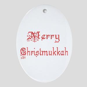 Christmukkah Ornament (Oval)