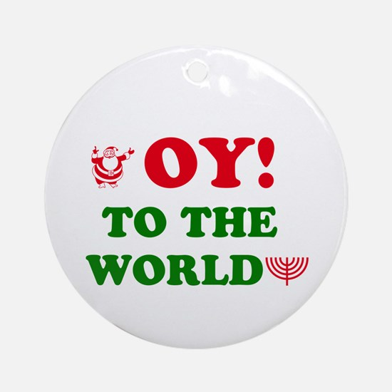 Oy to the World Ornament (Round)