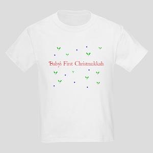 Baby's first Christmukkah Kids Light T-Shirt