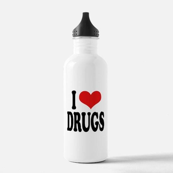 I Love Drugs Water Bottle