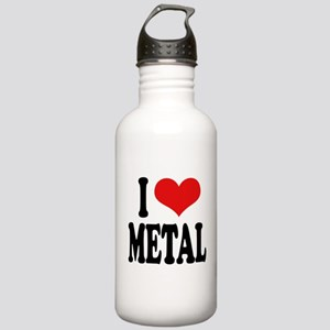 I Love Metal Stainless Water Bottle 1.0L
