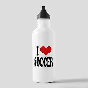 I Love Soccer Stainless Water Bottle 1.0L